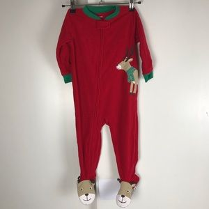 Carters NWT 2T Toddler Christmas Onesie Footed PJs